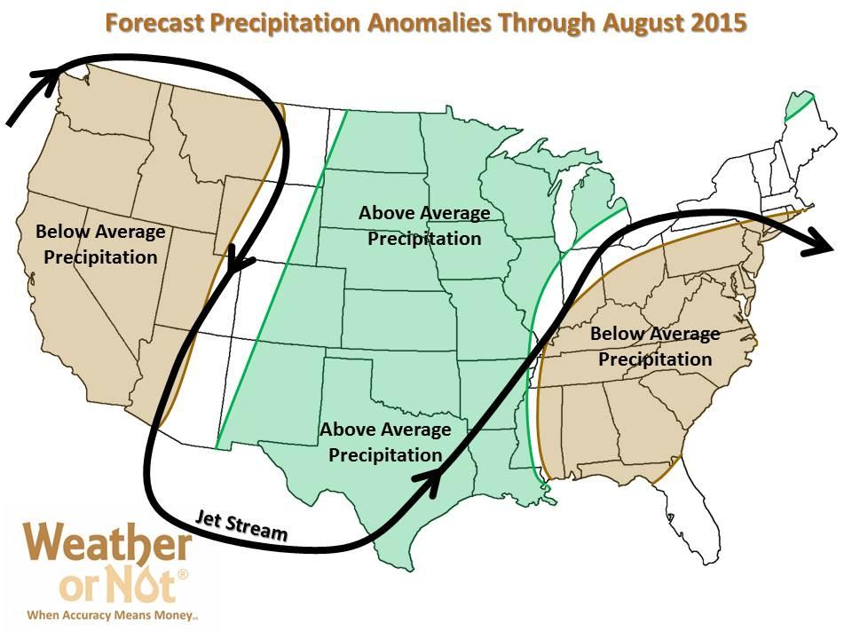 Summer 2015 Patterns - Precipitation